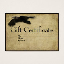Flying Crow- Prim Gift Certificate Cards