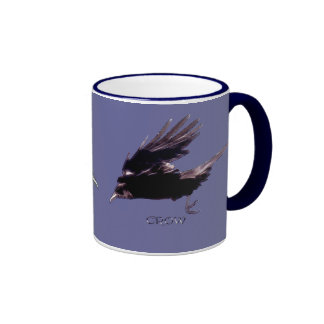Flying Crow Raven-lovers Drinkware Ringer Mug