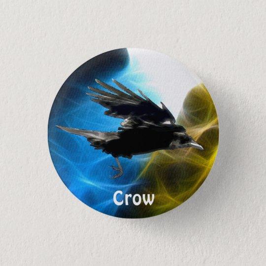 FLYING CROW Raven Wildlife Birds Series Button