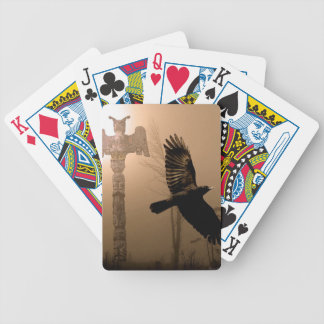 Flying Crow & Totem Pole Haida Pack Bicycle Playing Cards