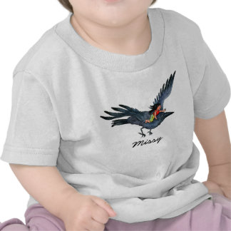 Flying Crow with Little Girl Baby Shirt