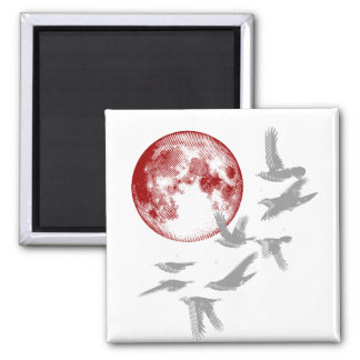 Flying Crows Magnet