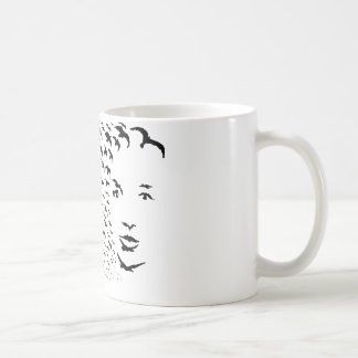 Flying Crows or Face Optical Illusion Mugs