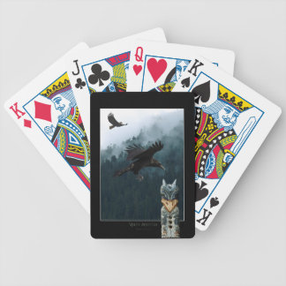 Flying Crows & Totem Pole Haida Pack Bicycle Playing Cards