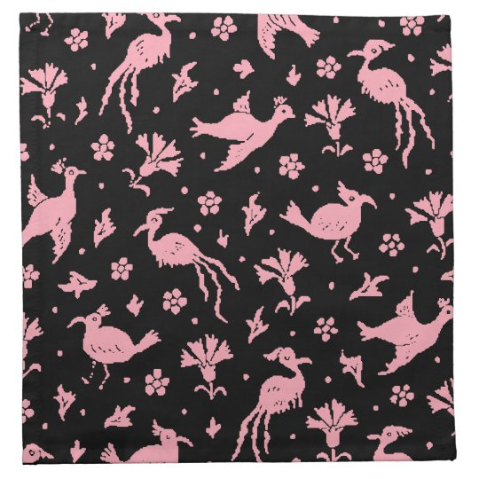 Flying Cuckoo Pink Flamingos Cocktail Napkins