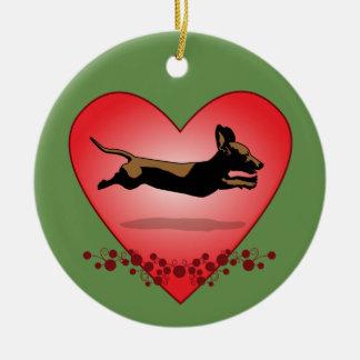 Flying Dachshund Christmas Ornament