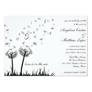 dandelion wedding invitations announcements zazzle