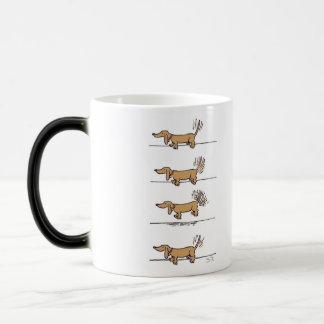 Flying Daschund right hand mug