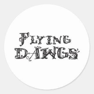 Flying Dawgs Logo Black Classic Round Sticker