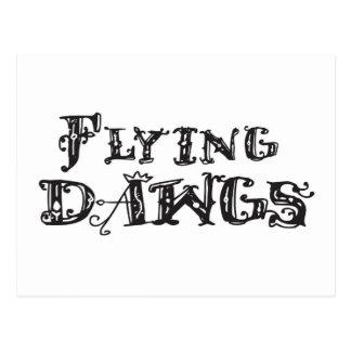 Flying Dawgs Logo Black Postcard