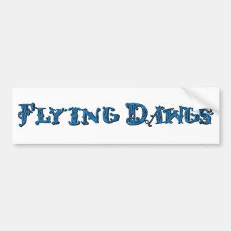 Flying Dawgs Logo Blue Car Bumper Sticker