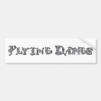 Flying Dawgs Logo Gray Car Bumper Sticker