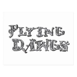 Flying Dawgs Logo Gray Postcard