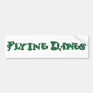 Flying Dawgs Logo Green Car Bumper Sticker