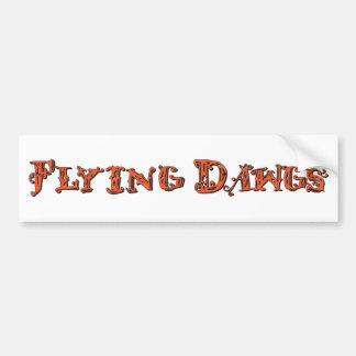 Flying Dawgs Logo Orange Car Bumper Sticker