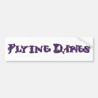 Flying Dawgs Logo Purple Car Bumper Sticker