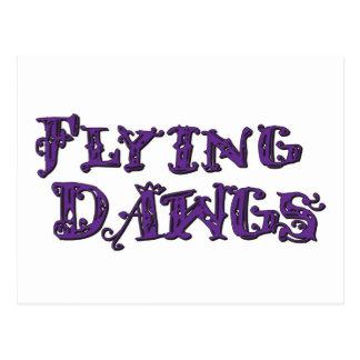 Flying Dawgs Logo Purple Postcard