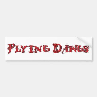 Flying Dawgs Logo Red Car Bumper Sticker