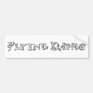 Flying Dawgs Logo White Car Bumper Sticker