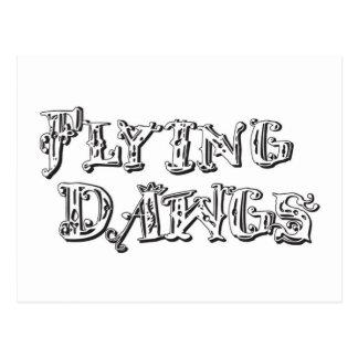 Flying Dawgs Logo White Postcard