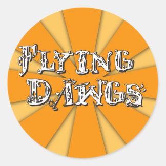 Flying Dawgs Main Logo Classic Round Sticker