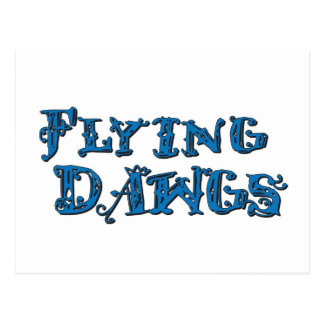 Flying Dawgs Stacked Logo Blue Postcard