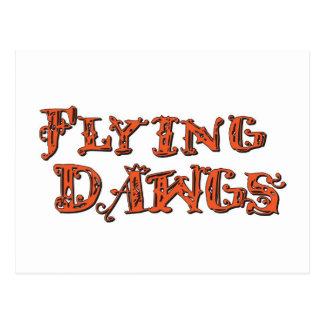 Flying Dawgs Stacked Logo Orange Postcard