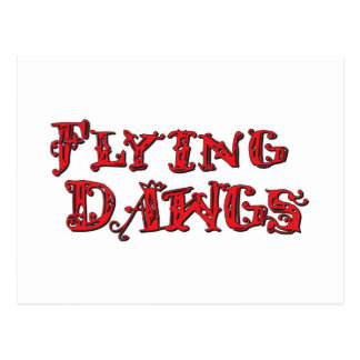 Flying Dawgs Stacked Logo Red Postcard