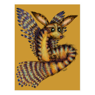 Flying Desert Vulpix Postcard