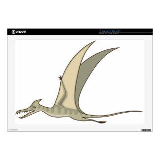"Flying Dinosaur Vector 17"" Laptop Decals"