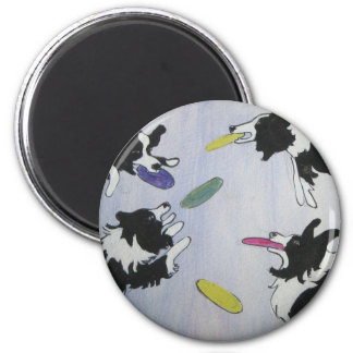 Flying Disc Dogs 2 Inch Round Magnet