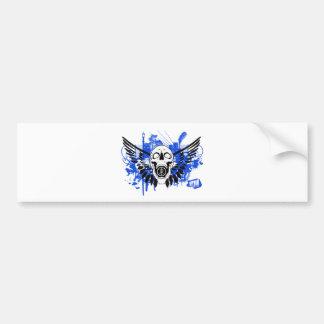 Flying Disc Golf Skull Bumper Sticker