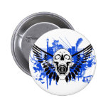 Flying Disc Golf Skull Button