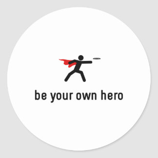 Flying Disc Hero Classic Round Sticker