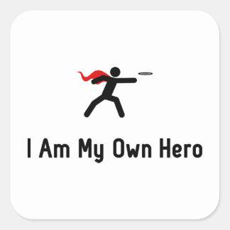 Flying Disc Hero Square Sticker