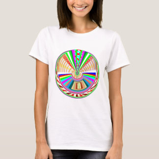 FLYING Disc - Wheel Circle Rainbow Patterns T-Shirt
