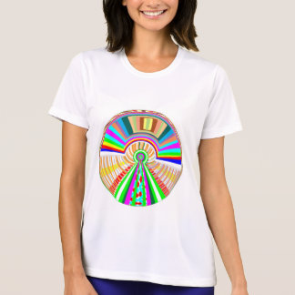 FLYING Disc - Wheel Circle Rainbow Patterns T-shirts