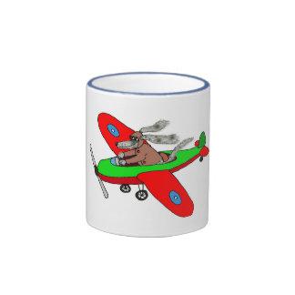 """""""Flying dog"""" ,aeroplane Coffee Mugs"""