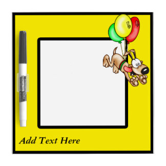 Flying Dog and Custom Text Dry Erase Board