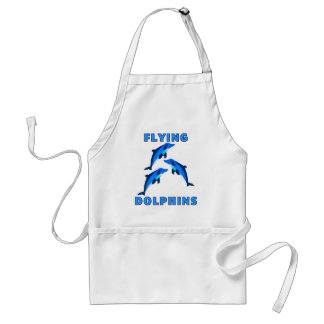 Flying Dolphins Adult Apron