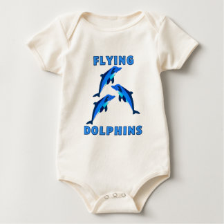Flying Dolphins Baby Bodysuit