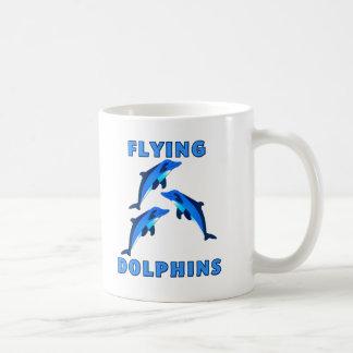 Flying Dolphins Classic White Coffee Mug