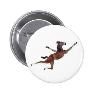 flying donkey 2 inch round button