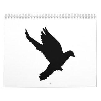 Flying dove calendar