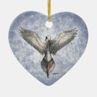 Flying Dove Heart Ornament Personalized
