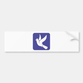 Flying Dove of Peace Icon Bumper Sticker
