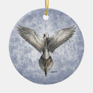 Flying Dove Round Ornament Personalized