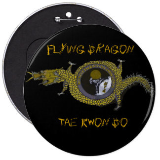 Flying Dragin Tae Kwon Do- Large Button