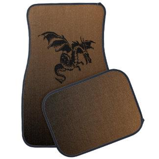 Flying Dragon Brown Car Mat