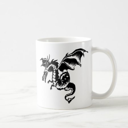 Flying Dragon Design White Mug